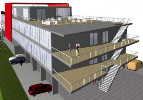Bauland für Bürohaus/Betriebsgebiet in Baden